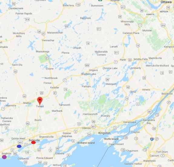 Karta Ontario