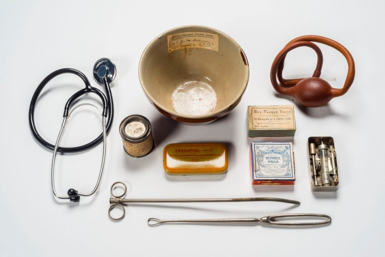 Medical implements and drugs used in administering illegal abort