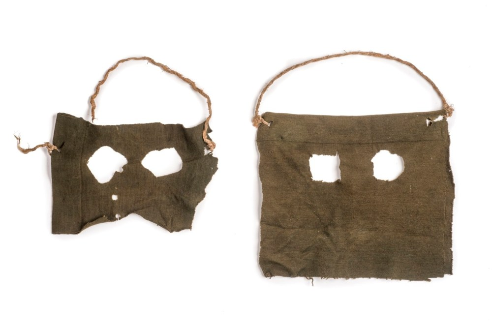 Masks used by the Stratton Brothers - the first criminals to be convicted in Great Britain for murder based on fingerprint evidence, 1905 © Museum of London