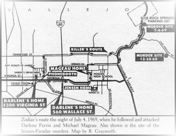Map Darlene + Michael murder